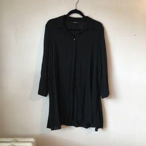 Long black blouse